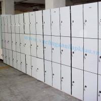 Thi công hệ thống tủ locker từ tấm Compact  HPL