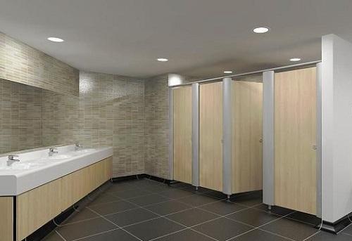 Vách ngăn toilet phù hợp cho nhà vệ sinh công cộng