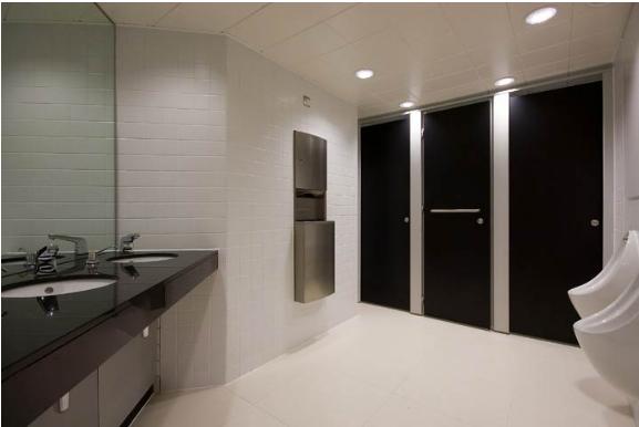 Phụ kiện vách ngăn làm nhà vệ sinh và sự phân biệt